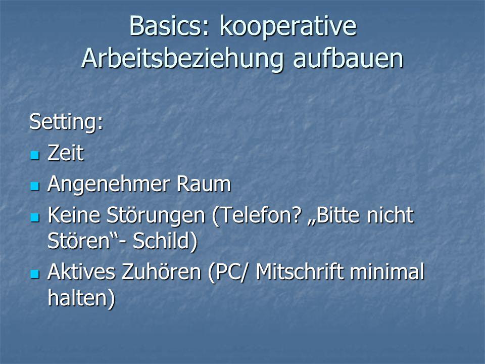 Basics: kooperative Arbeitsbeziehung aufbauen