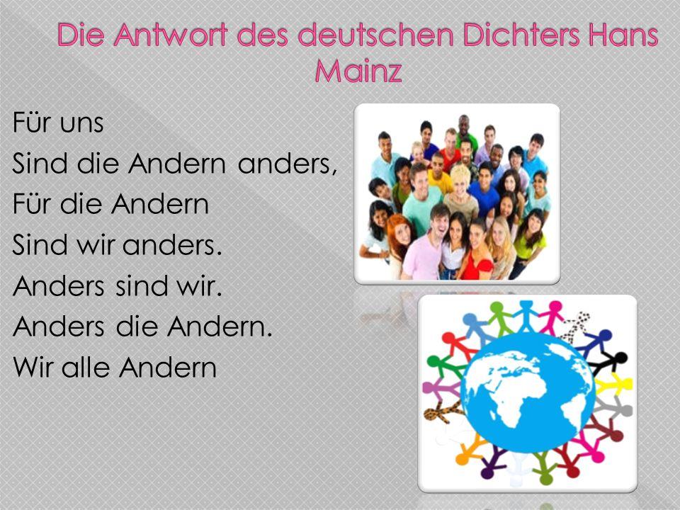 Die Antwort des deutschen Dichters Hans Mainz