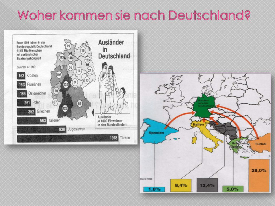 Woher kommen sie nach Deutschland