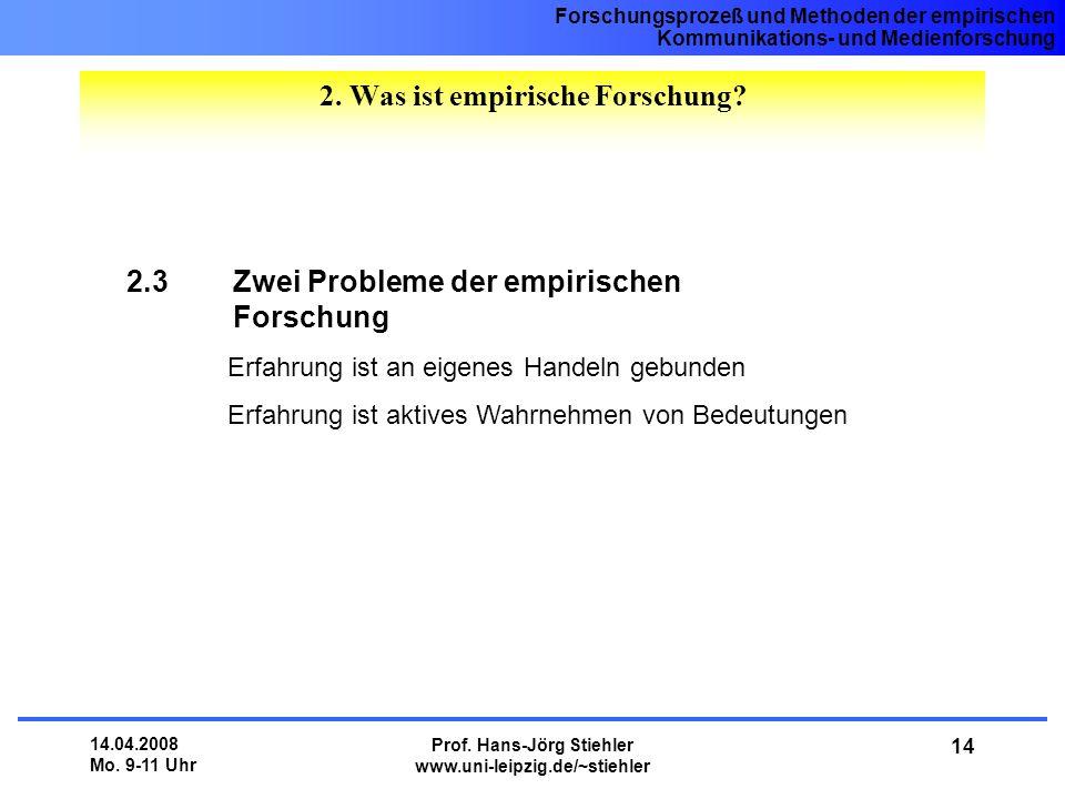 2. Was ist empirische Forschung