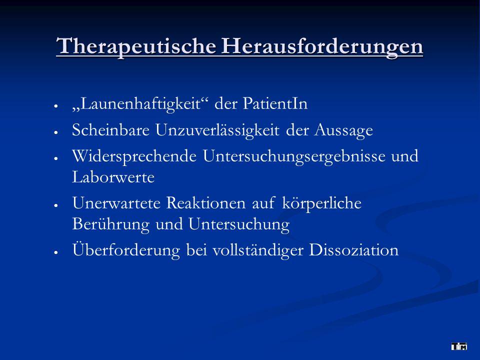 Therapeutische Herausforderungen