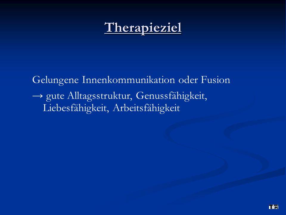 Therapieziel Gelungene Innenkommunikation oder Fusion