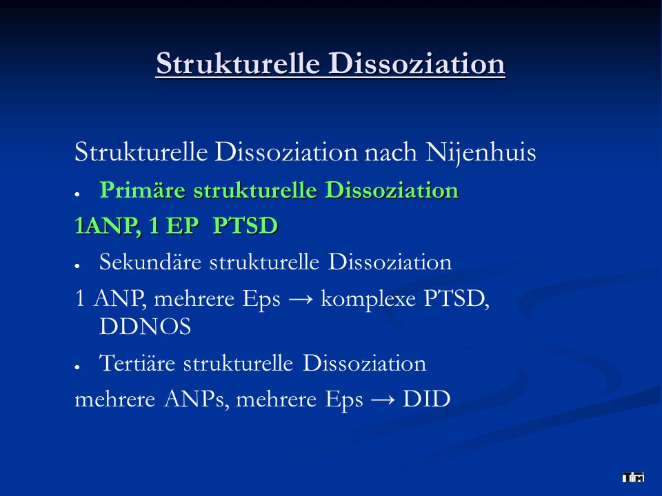 Strukturelle Dissoziation