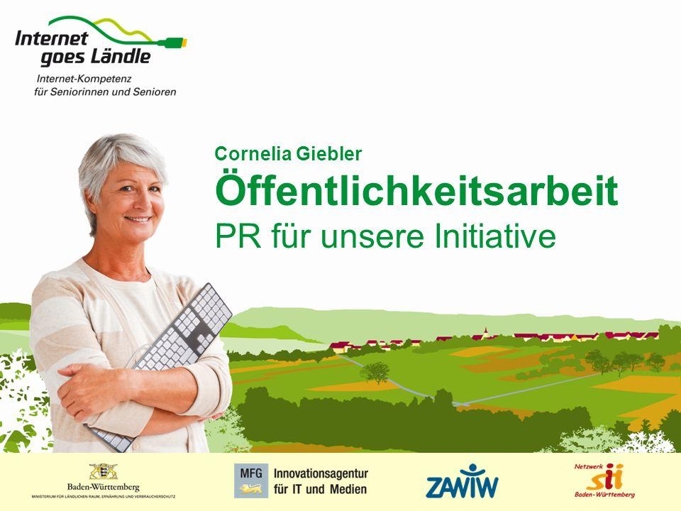 Cornelia Giebler Öffentlichkeitsarbeit PR für unsere Initiative