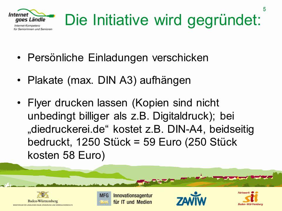 Die Initiative wird gegründet: