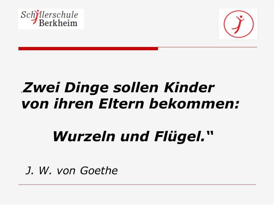 Wurzeln und Flügel. J. W. von Goethe