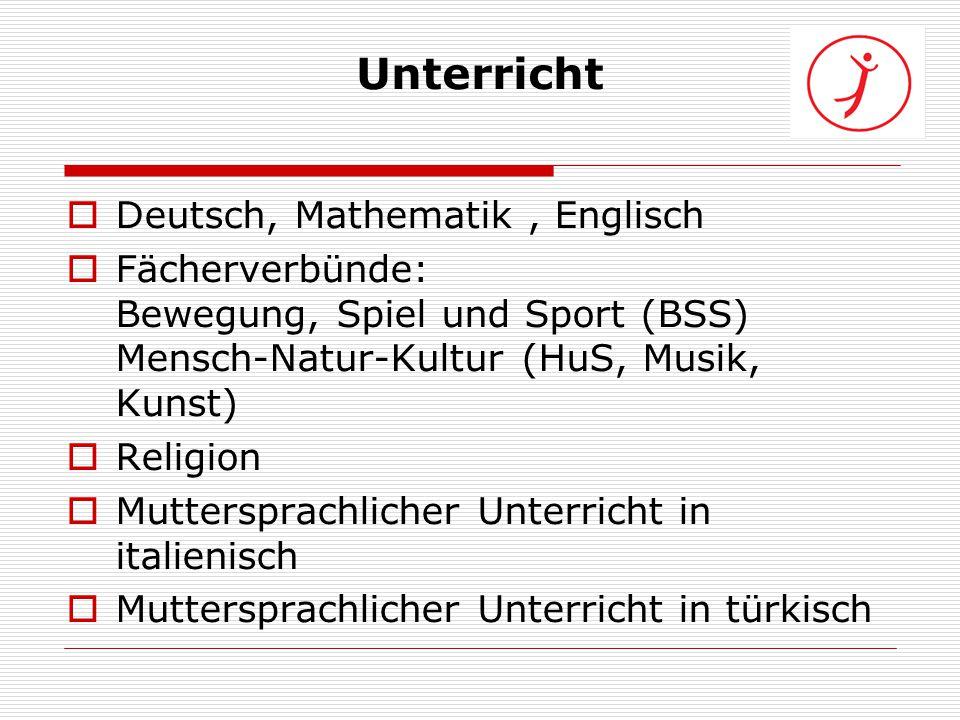 Unterricht Deutsch, Mathematik , Englisch