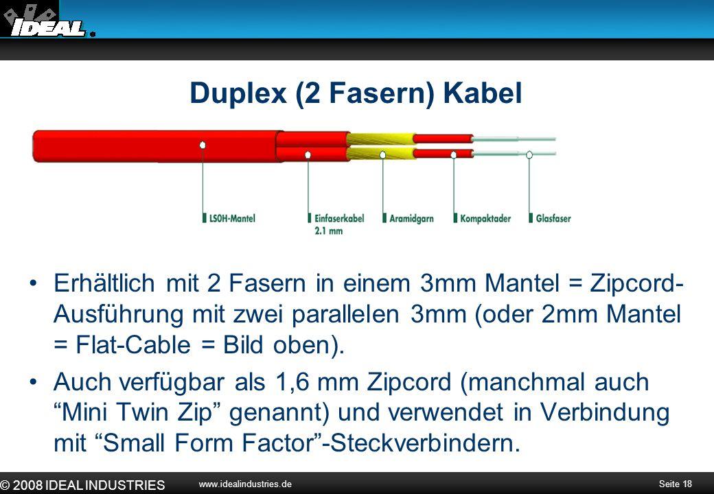 Duplex (2 Fasern) Kabel