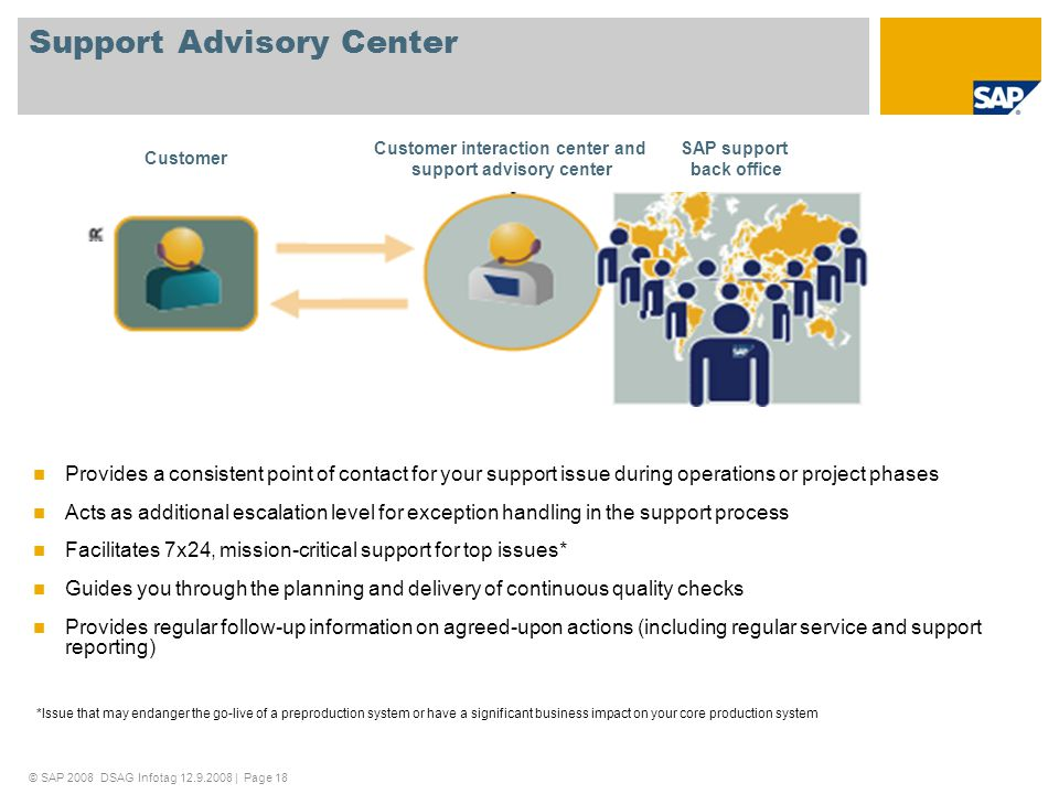 Support Advisory Center