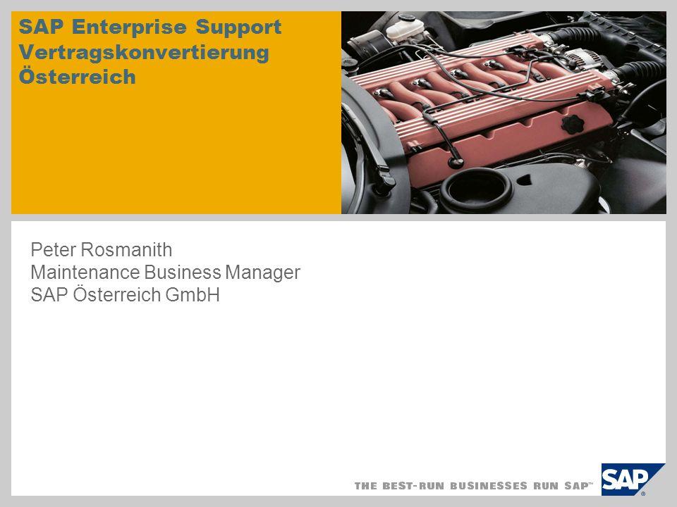 SAP Enterprise Support Vertragskonvertierung Österreich