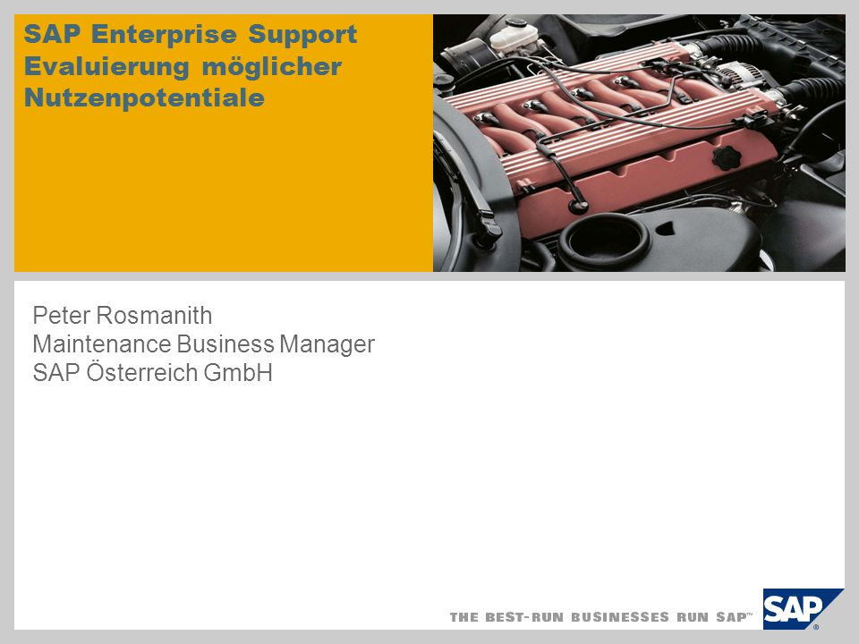 SAP Enterprise Support Evaluierung möglicher Nutzenpotentiale