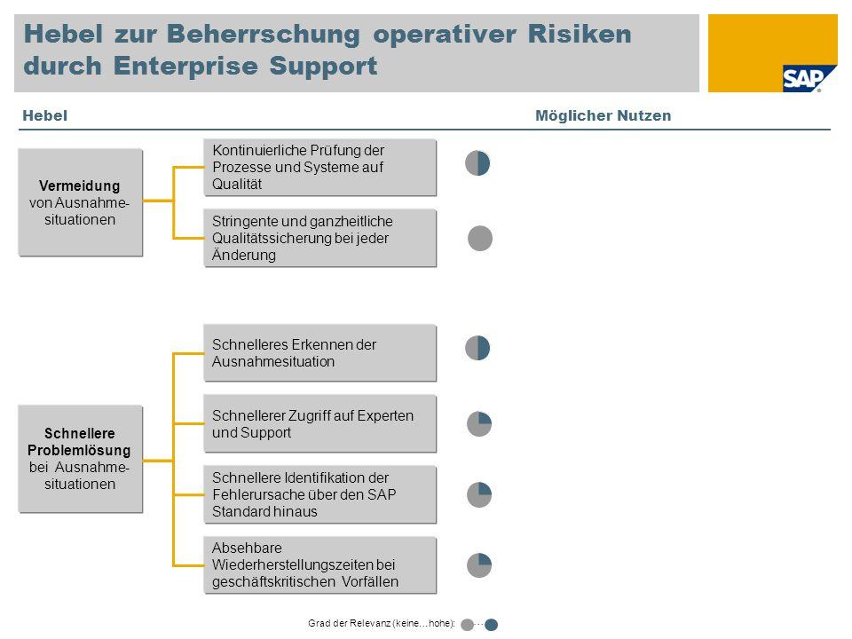 Hebel zur Beherrschung operativer Risiken durch Enterprise Support