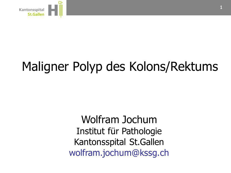 Maligner Polyp des Kolons/Rektums