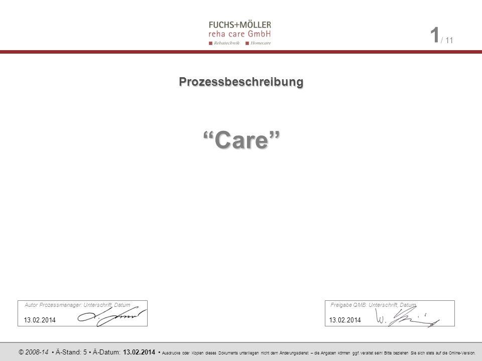 Care Prozessbeschreibung 13.02.2014 13.02.2014