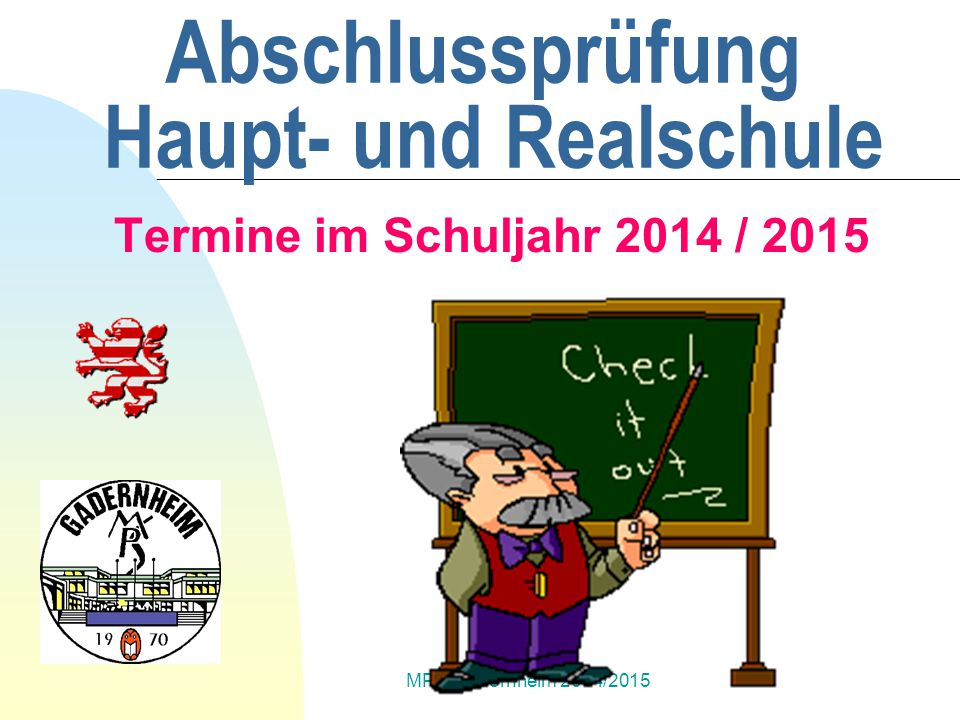 Abschlussprüfung Haupt- und Realschule