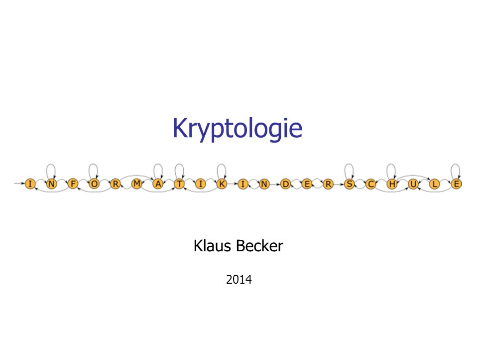 Kryptologie Klaus Becker 2014