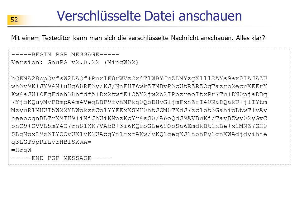 Verschlüsselte Datei anschauen