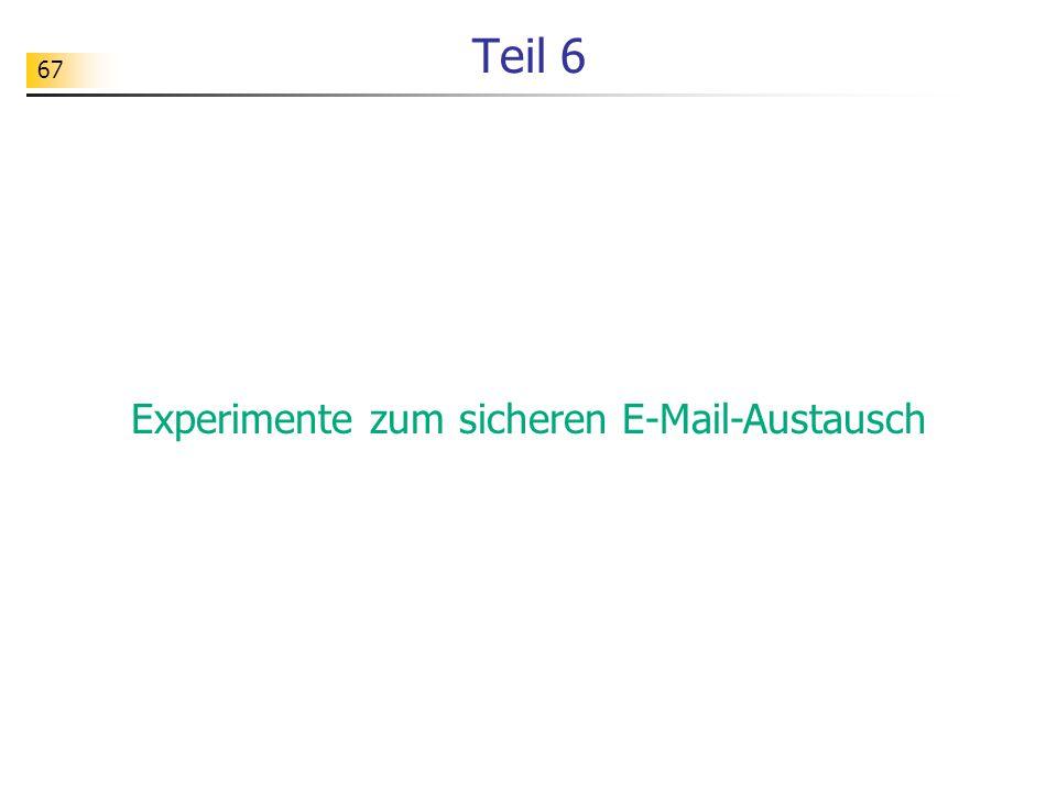 Experimente zum sicheren E-Mail-Austausch