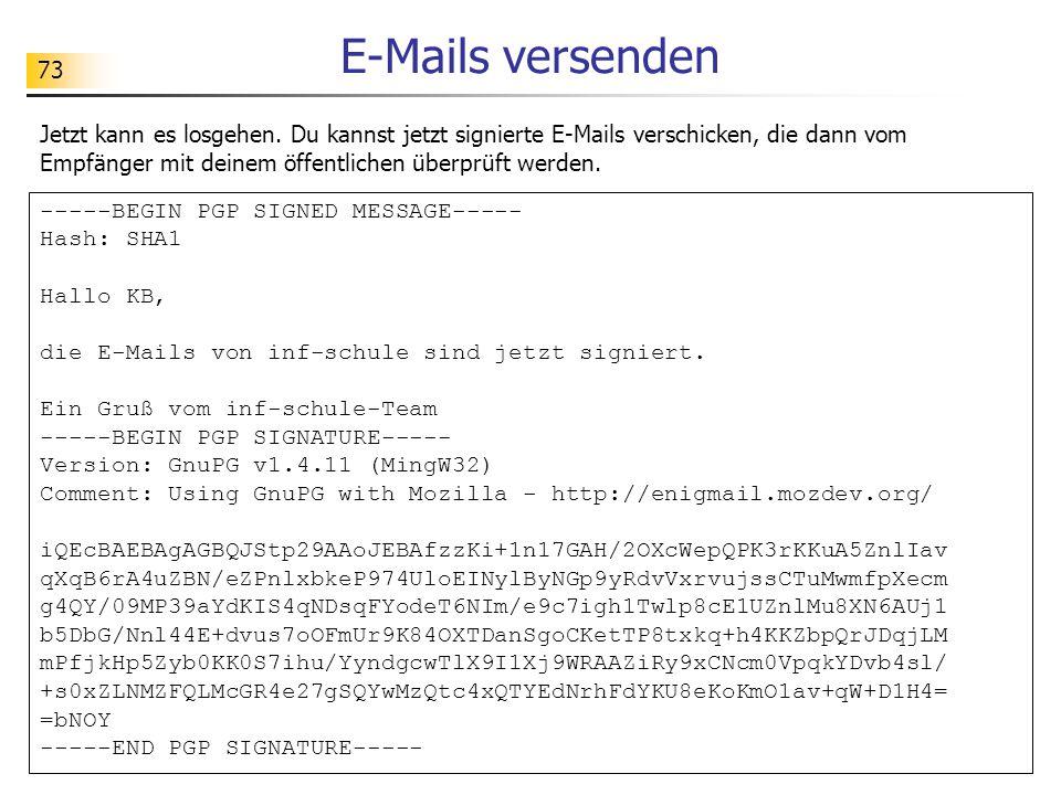 E-Mails versenden