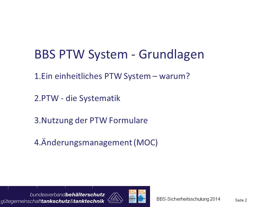BBS PTW System - Grundlagen