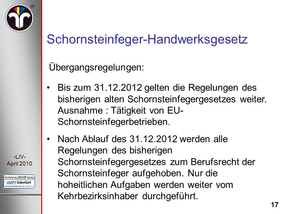 Schornsteinfeger-Handwerksgesetz