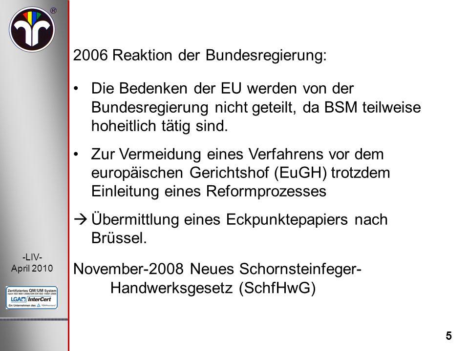 2006 Reaktion der Bundesregierung: