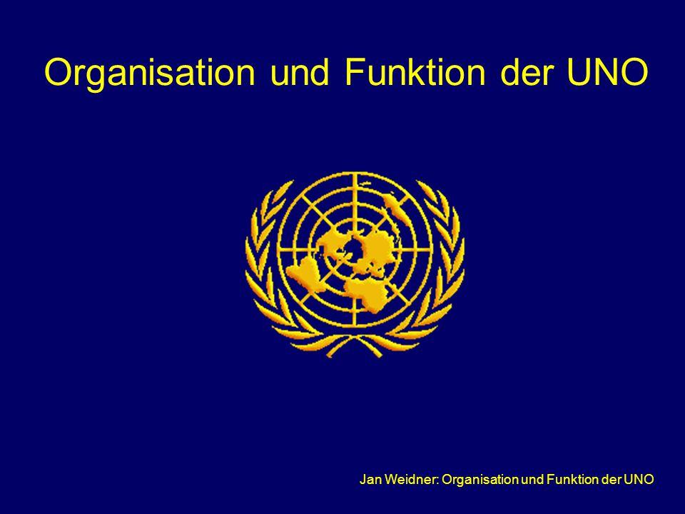 Organisation und Funktion der UNO