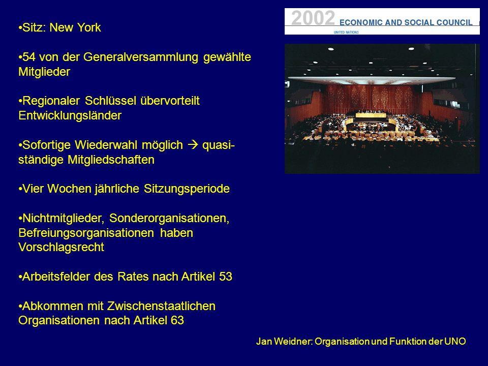 Jan Weidner: Organisation und Funktion der UNO
