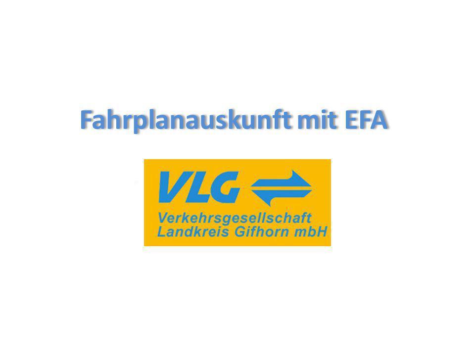 Fahrplanauskunft mit EFA
