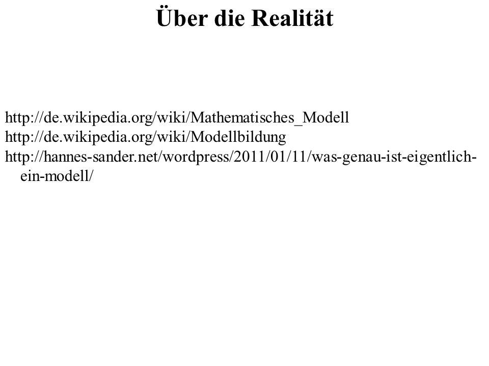 Über die Realität http://de.wikipedia.org/wiki/Mathematisches_Modell