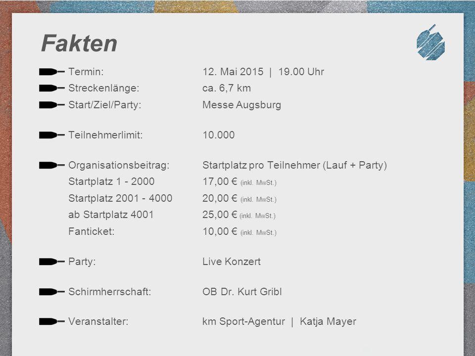 Fakten Termin: Streckenlänge: Start/Ziel/Party: Teilnehmerlimit: