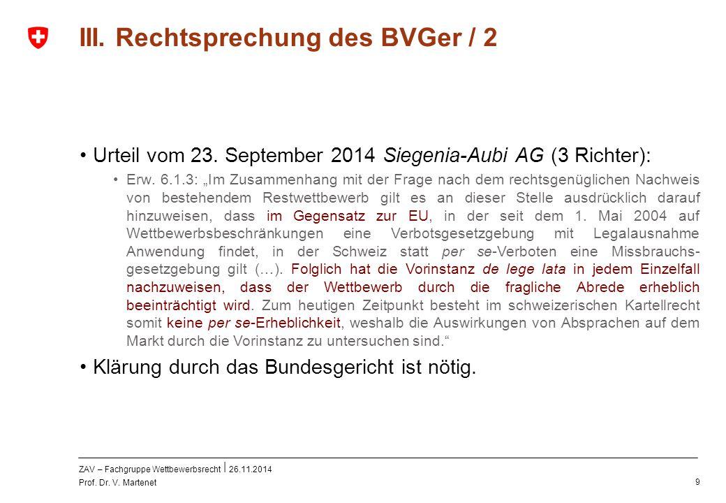 III. Rechtsprechung des BVGer / 2