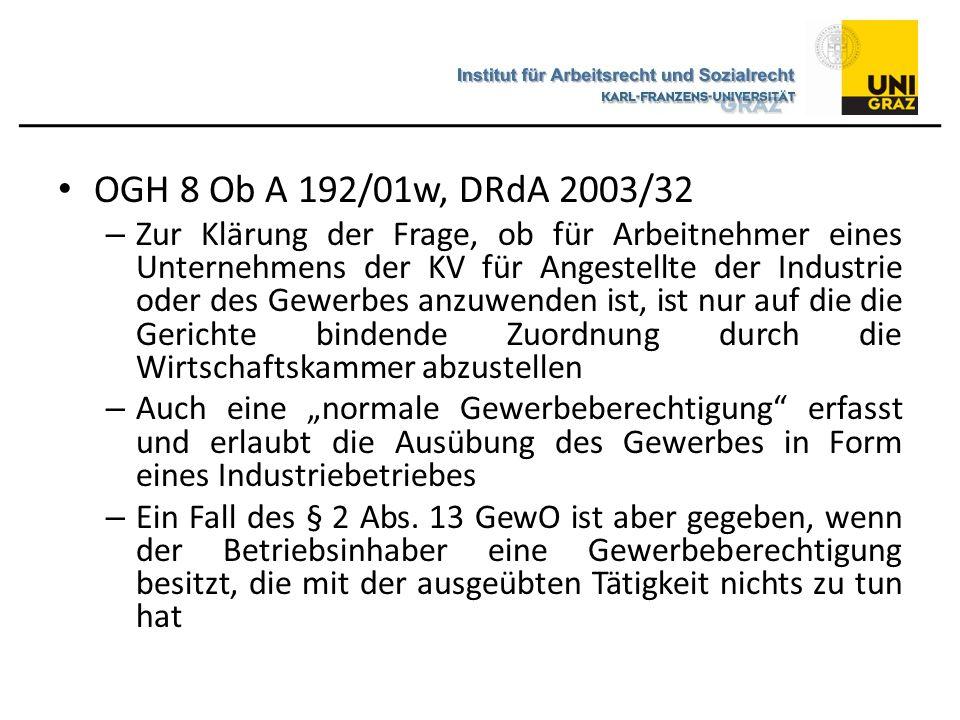 OGH 8 Ob A 192/01w, DRdA 2003/32