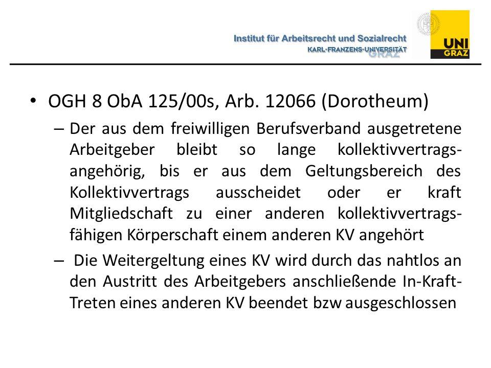 OGH 8 ObA 125/00s, Arb. 12066 (Dorotheum)
