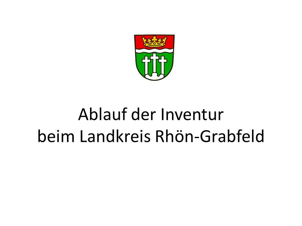 Ablauf der Inventur beim Landkreis Rhön-Grabfeld