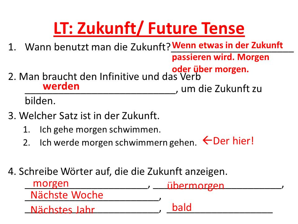 LT: Zukunft/ Future Tense
