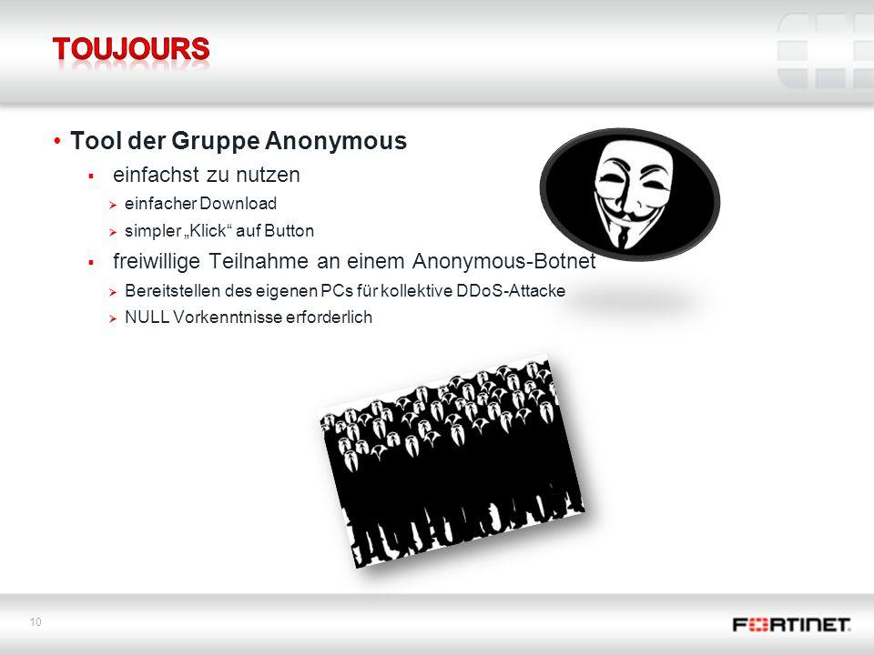 Toujours Tool der Gruppe Anonymous einfachst zu nutzen