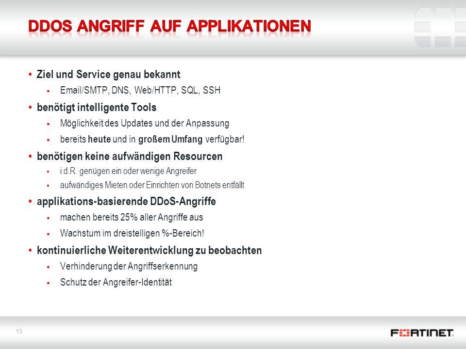 DDoS Angriff auf Applikationen