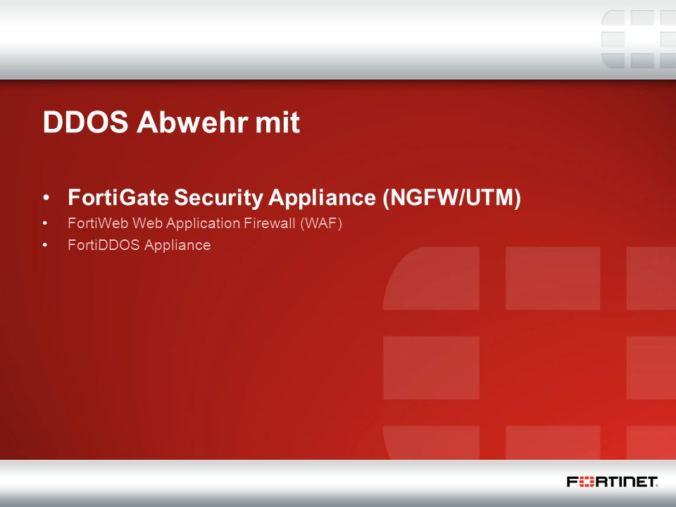DDOS Abwehr mit FortiGate Security Appliance (NGFW/UTM)
