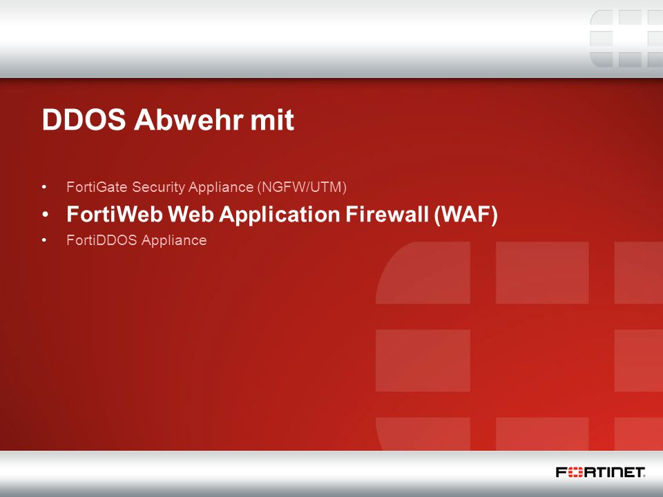 DDOS Abwehr mit FortiWeb Web Application Firewall (WAF)