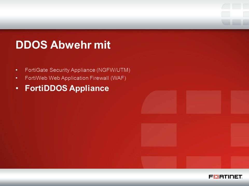 DDOS Abwehr mit FortiDDOS Appliance
