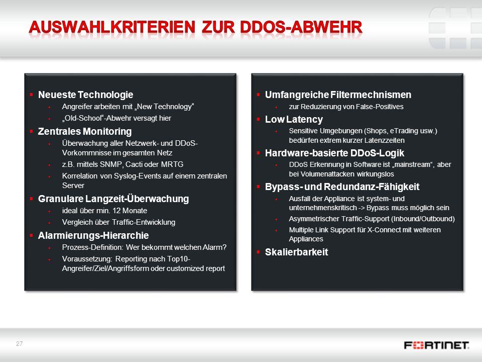 Auswahlkriterien zur DDoS-Abwehr