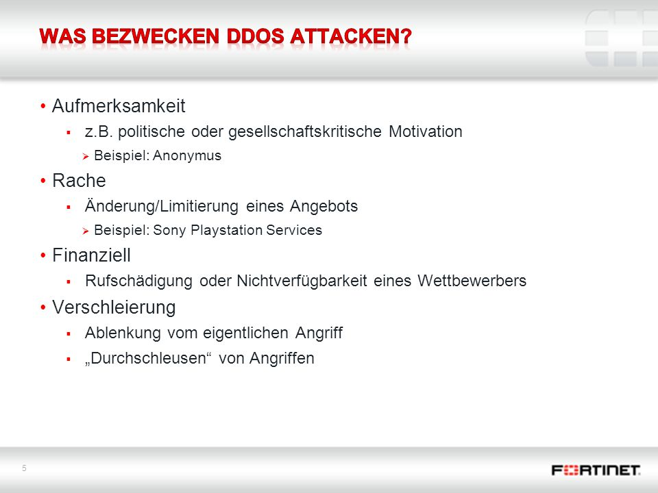 Was bezwecken DDoS Attacken