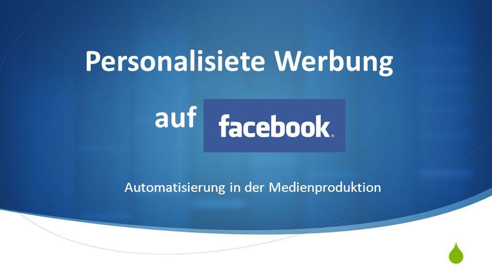 Personalisiete Werbung auf Facebook