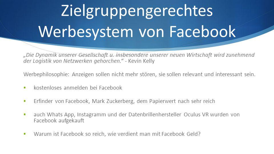 Zielgruppengerechtes Werbesystem von Facebook