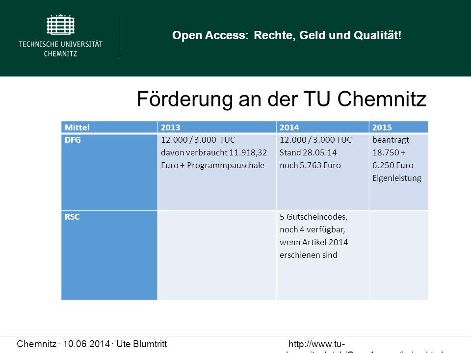 Förderung an der TU Chemnitz