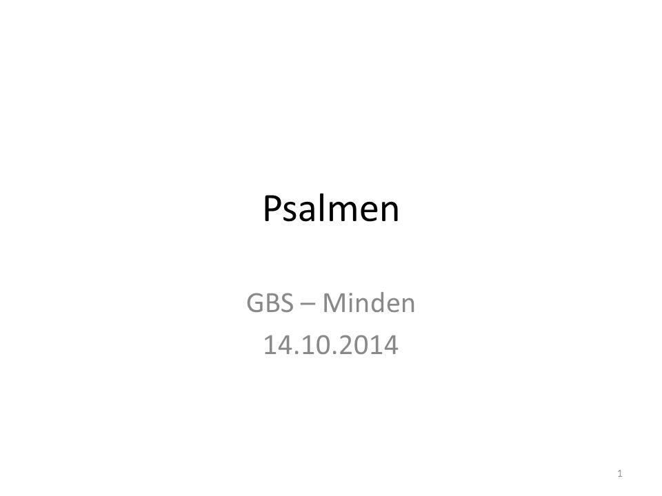 Psalmen GBS – Minden 14.10.2014