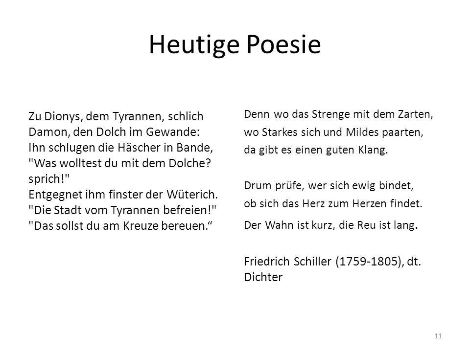 Heutige Poesie