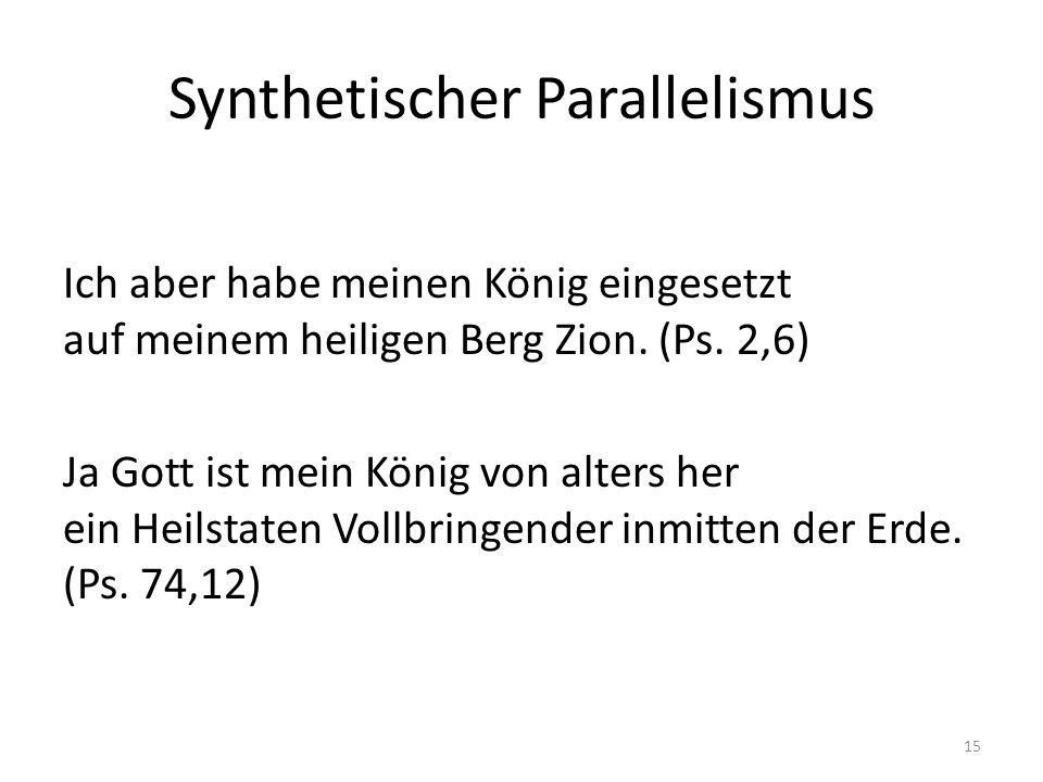 Synthetischer Parallelismus