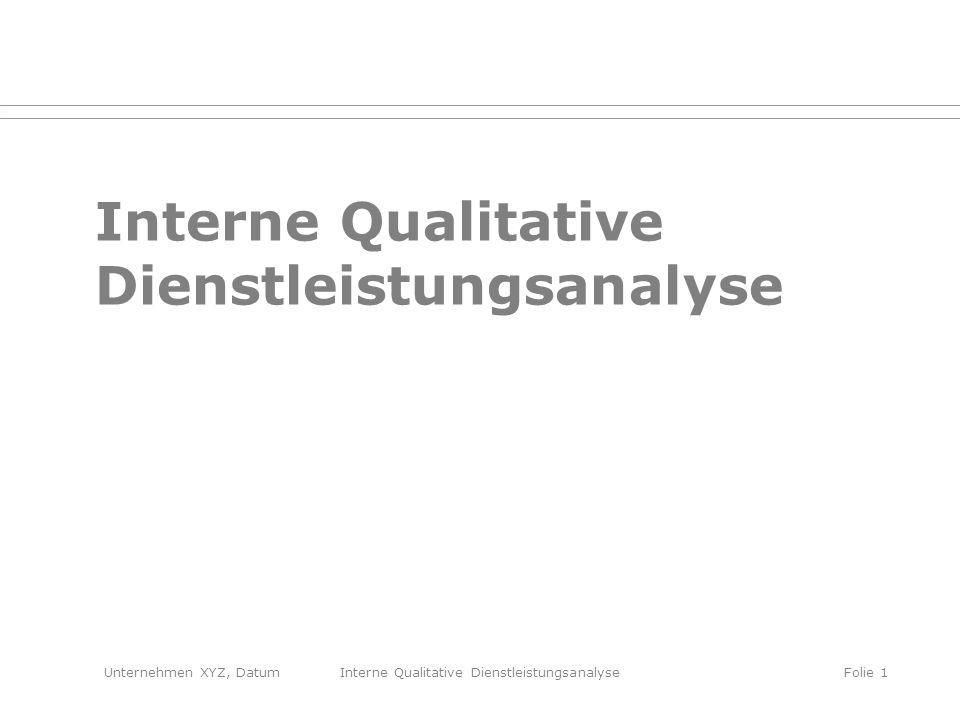 Interne Qualitative Dienstleistungsanalyse